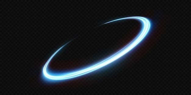 투명한 배경에 빛나는 네온 물결 모양의 빛 라인 네온 불빛 전등 조명 png