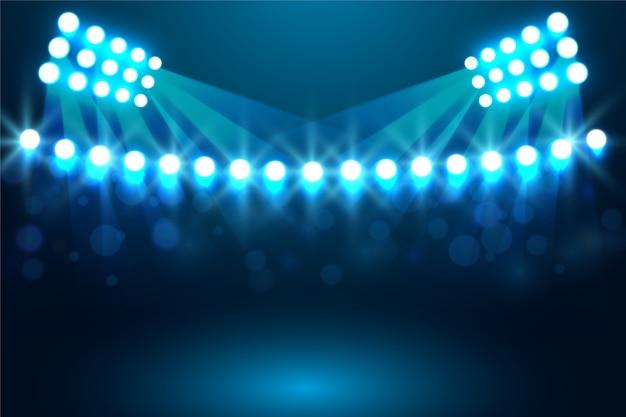 Luminous stadium light effect