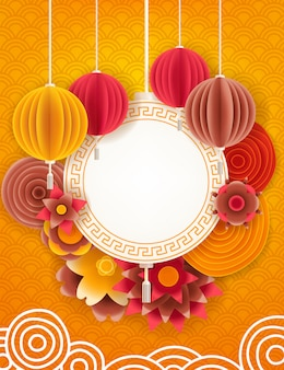 Lunar new year design background