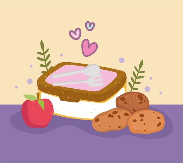 도시락 쿠키와 사과