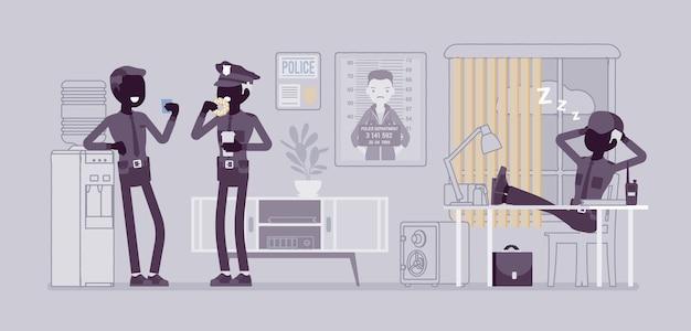 Обеденный перерыв в полицейском участке