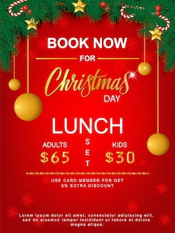 Lunch set merry christmas brochure