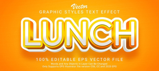Lunch text style effect