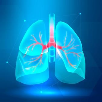 呼吸器系スマートヘルスケア用肺バナー