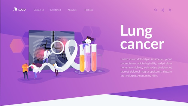 Lung cancer landing page template