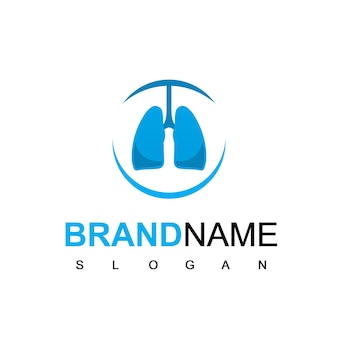 Lung logo for hospital or health care company