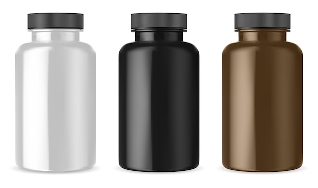 Бутылка лютеина. черная, коричневая, белая банка для таблеток.