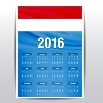 Luxembourg calendar of 2016
