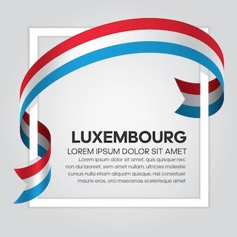 Флаг люксембурга ленты, векторные иллюстрации на белом фоне