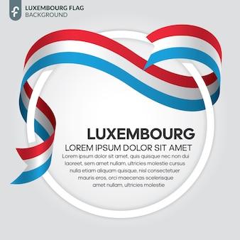 Флаг люксембурга ленты векторные иллюстрации на белом фоне