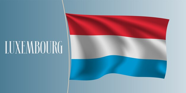 Развевающийся флаг люксембурга