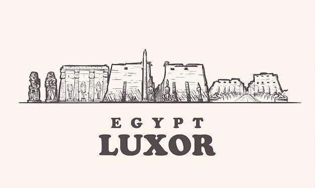 Городской пейзаж луксора, египет