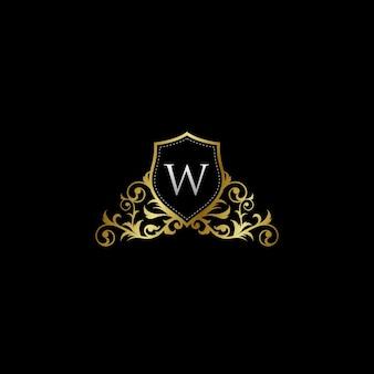 Luxurios classy letter w logo