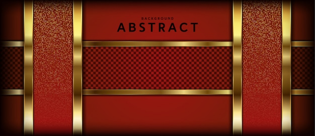 Luxurious abstract background with luminous gold stripes