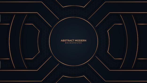 Роскошный абстрактный черный золотой фон
