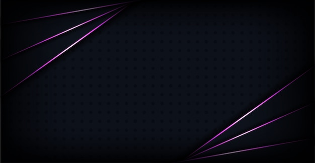 Luxurious abstract dark background with purple shapes lines glowing combination