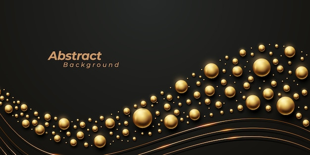 Luxurious background with corrugated golden spherical pattern.