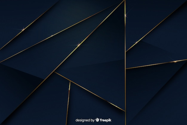 Luxurious background with different shapes