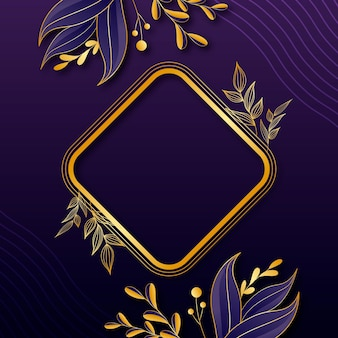 Luxurious background with golden details