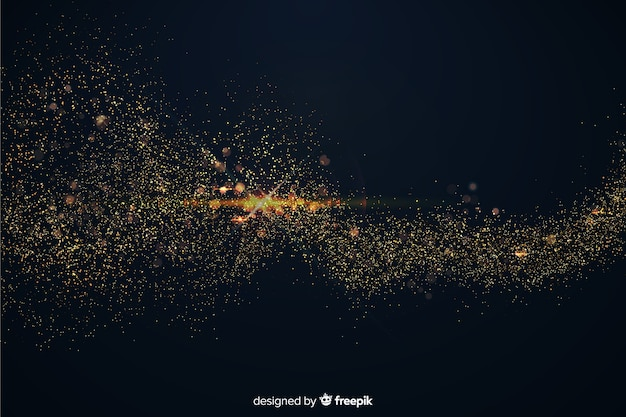 Luxurious background with golden particles