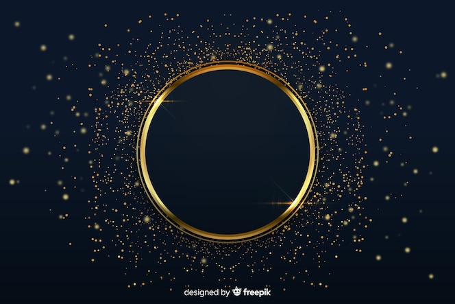 Luxurious background with golden ring