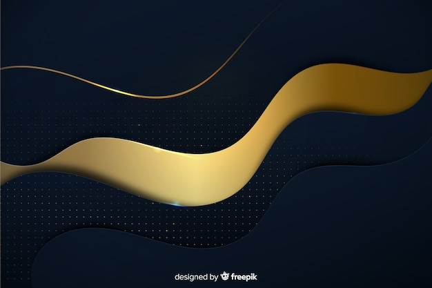Luxurious background with golden waves