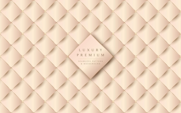Luxurious beige leather texture and seamless pattern background
