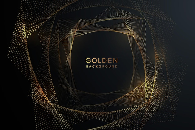 3dスタイルで輝くゴールドの組み合わせと豪華な黒の背景。
