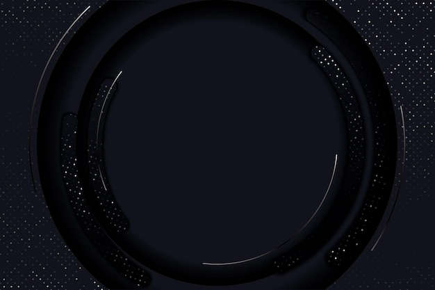 Роскошный черный фон с комбинацией блестящей ленты в стиле 3d элемент графического дизайна элегантный декор eps 10