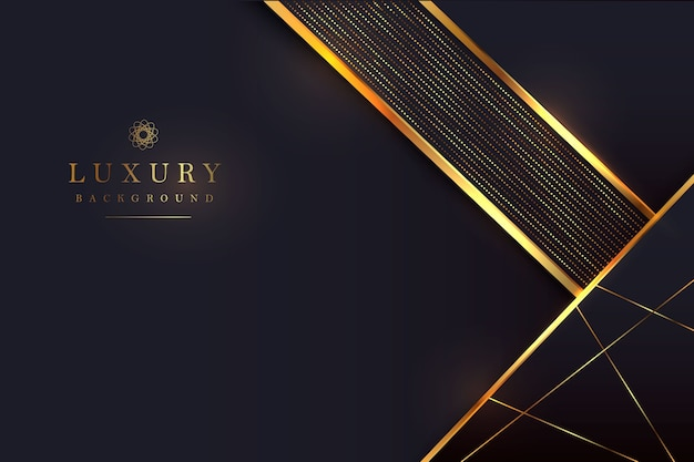 Luxurious black background with a combination of gold shining in a 3d style. graphic design element.