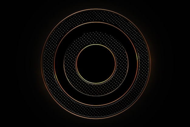 Luxurious black background with a combination of gold shining in a 3d style