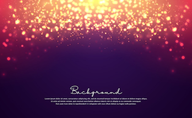 Luxurious bokeh glitter background.