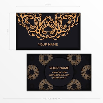 Luxurious business card design with vintage indian ornament. can as roman background and wallpaper. elegant and classic elements ready for print and typography.