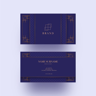 Luxurious business card template