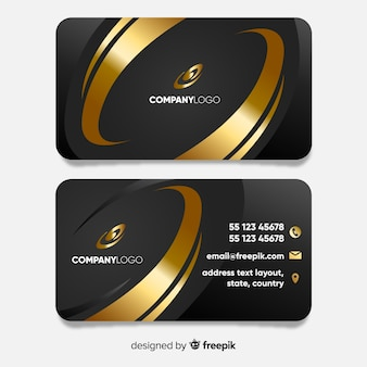 Luxurious business card