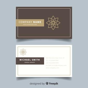 Luxurious business card
