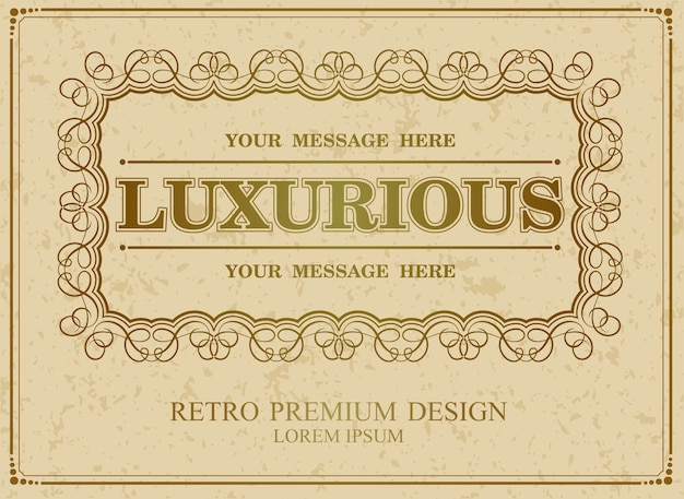 Luxurious calligraphic border,