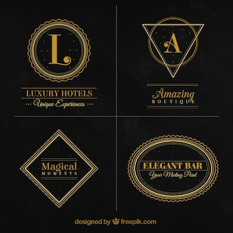 Luxurious collection of vintage logos