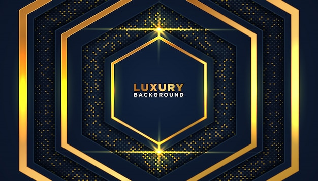Luxurious dark background with gold glitter