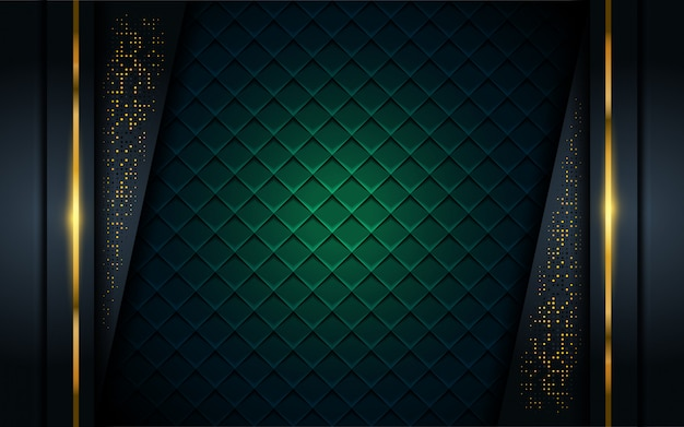 Luxurious dark background with golden line.