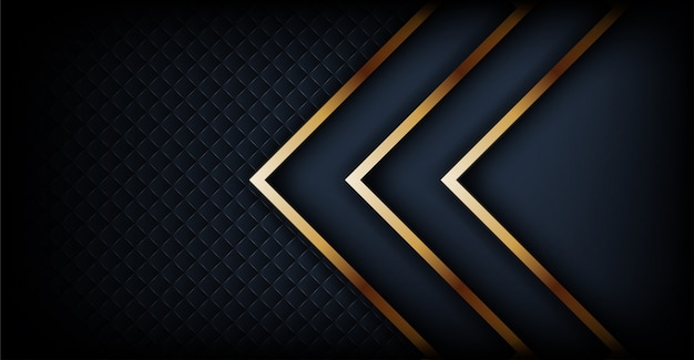 Luxurious dark background with golden lines combination