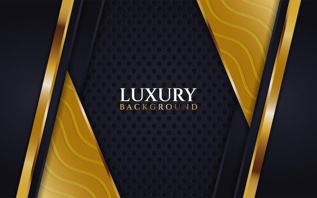 Luxurious dark background with line gold wave texture