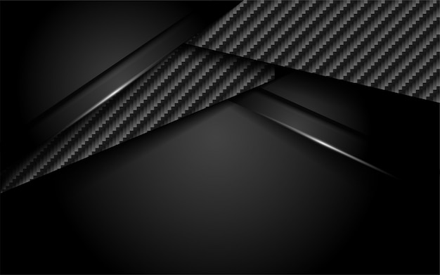 Luxurious dark carbon background with overlap layer