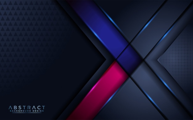 Luxurious dark navy background with blue and pink accent
