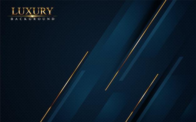 Luxurious dark navy blue background with golden lines