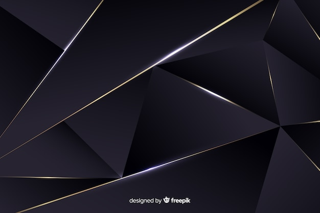 Luxurious dark polygonal background