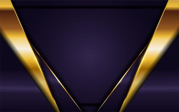 Luxurious dark purple background with golden lines combination.