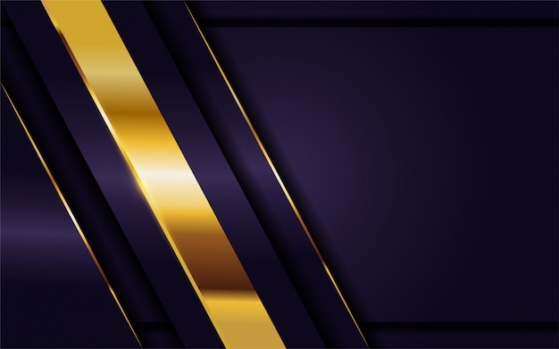 Luxurious dark purple background with golden lines combination.