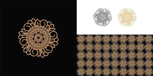豪華な装飾的な曼荼羅模様