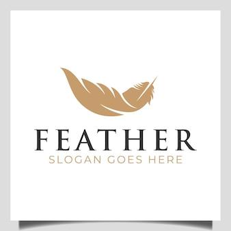Роскошный вектор символа чернил пера с пером для подписи, дизайн логотипа нотариальной истории